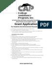HS CAP Grant App