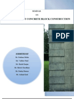 Precast Cement Concrete Block Construction