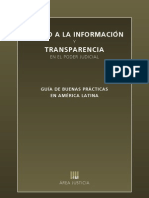 ACCESO A LA INFORMACIÓN Y TRANSPARENCIA EN EL PODER JUDICIAL