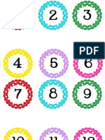 Circle Polka Dot Numbers 1-100