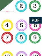 Circle Polka Dot Numbers 1-100