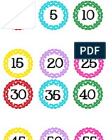 Circle Polka Dot Numbers 0-100 by 5's