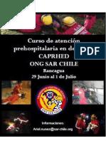 Curso de atención prehospitalaria en desastres ONG SAR CHILE