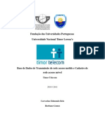 Base de Dados de Transmissao de Rede e de Acesso Movel Timor Telecom