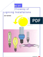 Guidelines on Energy Efficiency of Lighting Installations 2007