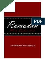 Muminahs Kitchen 2012 Ramadan recipes
