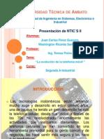 Trabajo de NTICS II - La evolución de la telefonía móvil