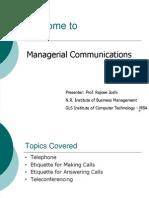 Managerial Communication Telephoning