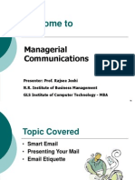 Managerial Communication Session 28 - Email Writing