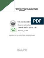 Analisis de Peligros Para Alimentos HACCP