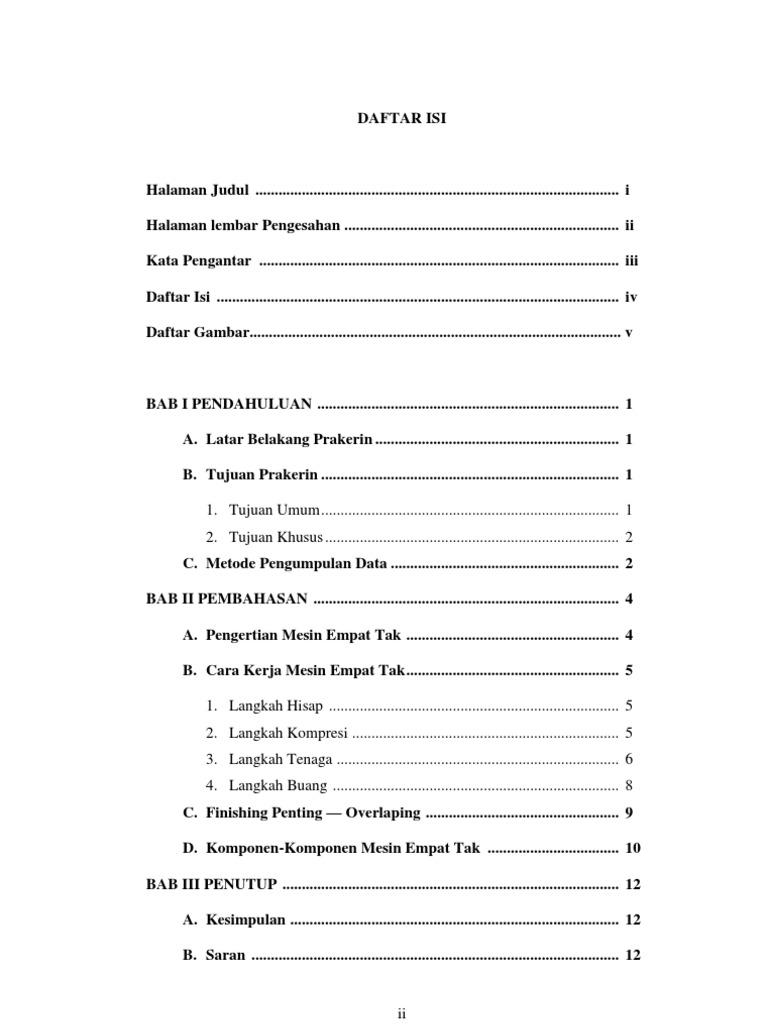Contoh Daftar Isi Prakerin Smk Darul Falah