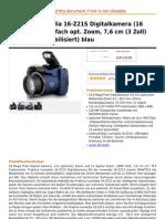 Praktica Luxmedia 16-Z21S Digitalkamera (16 Megapixels, 21-Fach Opt. Zoom, 7,6 Cm (3 Zoll) Display,