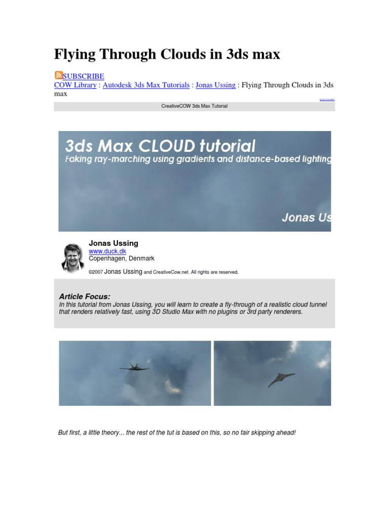 Flying Through Clouds in 3ds max docx   Texture Mapping