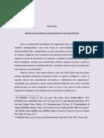 Entre Os Paradigmas de Aristoteles e Democrito