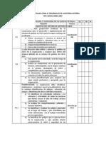 Lista de Chequeo Para El Desarrollo de Auditoria Externa