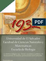 La Rebelion Indigena 1932 Social Economico y Politico El Levantamiento La Matanza Persecuciones Socio Culturales