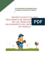 Seguridad y Salud De Los Trabajadores DECRETO  EJECUTIVO  2393