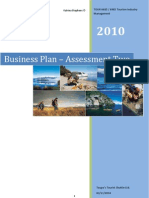 Business Plan - SME Tourism Venture (Tourism Industry Management)