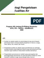 1 Teknologi Pengelolaan Kualitas Air PENGENALAN