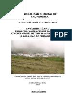 Memoria Descriptiva Agua Chupamarca