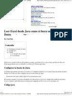 Leer Excel Desde Java Como Si Fuera Una Base de Datos