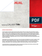 VZW SCH-I800 GalaxyTab English User Manual