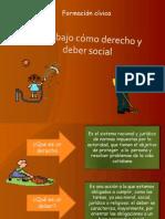 El trabajo cómo derecho y  deber social