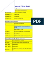 VxWorks Command Cheat Sheet
