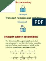 Transport No. & Kohlrausch Law