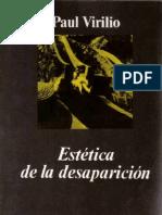 Virilio - La estética de la desaparición