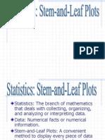1 3 Stem Leafplots