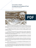 Alarma Ante El Estado de La Fontana Di Trevi