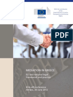 MEDIATION IN GREECE – EU and national legal framework and practice