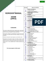 Isuzu Axiom 2002 Manual