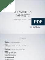 The Writers Manifesto