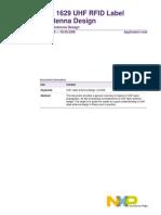An 1629 Uhf Rfid Label