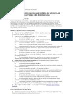 RECOMENDACIONES EN CONDUCCIÓN DE VEHÍCULOS SANITARIOS EN EMERGENCIA.doc