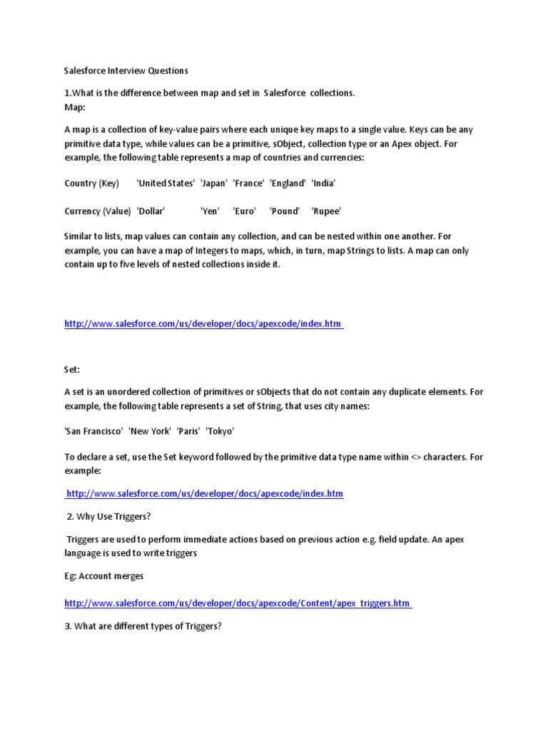Salesforce Interview Questions | Salesforce.Com | Computer Engineering