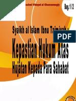 Fatwa Syaikh Ibnu Taimiyah.hukuman Para Penghujat Sahabat