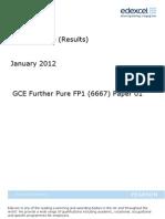 FP1 January 2012 Mark Scheme