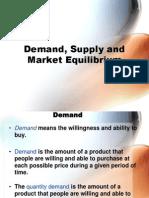 IQRA BE Demand Supply Equilibrium 2011