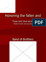 Honoring the Fallen and Those Who Served.ppt Revision