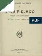 Breve reseña histórica del archipiélago canario 1929