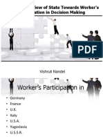 Comparative View of State Towards Worker's Participation in Decision Making
