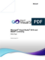 Visual Studio 2010 and MSDN Licensing Whitepaper - Aug-2011