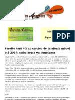 Paraíba terá 4G no serviço de telefonia móvel até 2014; saiba como vai funcionar