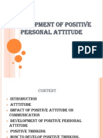 Development of Positive Personal Attitude