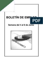 BOLETIN DE EMPLEO SEMANA 4 AL 8 JUNIO