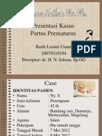 Presus Partus Prematurus Dr Ichsan