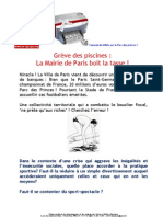 Piscines Grève du 11 juin 2012